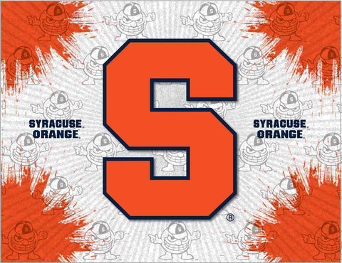 Syracuse Orange HBS Gray Orange Wall Canvas Art Picture Print