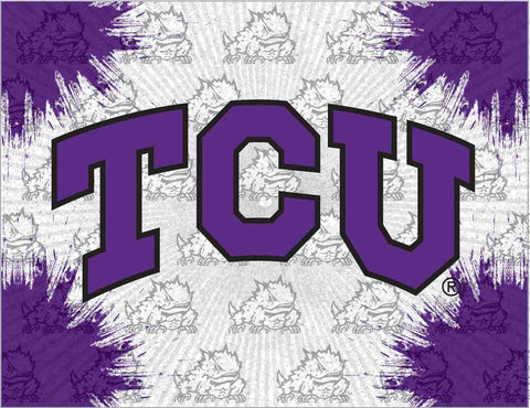 TCU Horned Frogs HBS Gray Purple Wall Canvas Art Picture Print