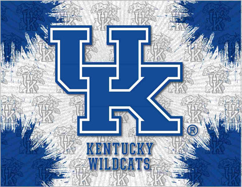 "Kentucky Wildcats HBS Gray Blue ""UK"" Wall Canvas Art Picture Print"