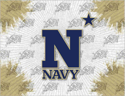 Navy Midshipmen HBS Navy Star Wall Canvas Art Picture Print