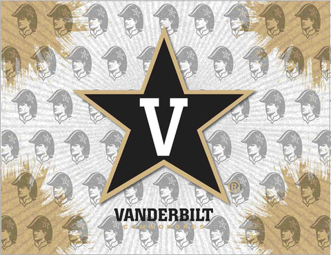 Vanderbilt Commodores HBS Gray Gold Wall Canvas Art Picture Print