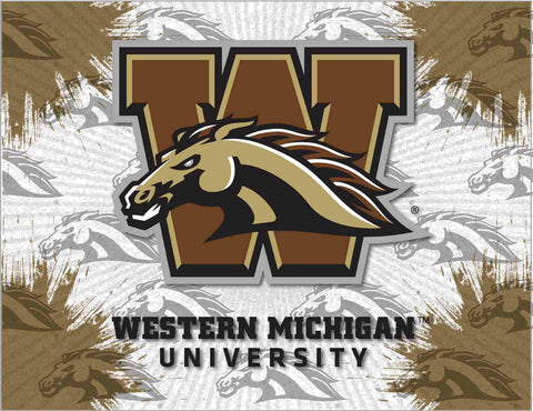 Western Michigan Broncos HBS Gray Wall Canvas Art Picture Print