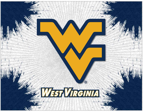 West Virginia Mountaineers HBS Gray Wall Canvas Art Picture Print