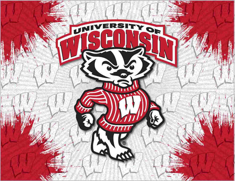 Wisconsin Badgers HBS Honey Badger Wall Canvas Art Picture Print
