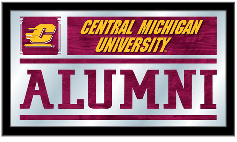 "Central Michigan Chippewas Holland Bar Stool Co. Alumni Mirror (26"" x 15"") - Sporting Up"