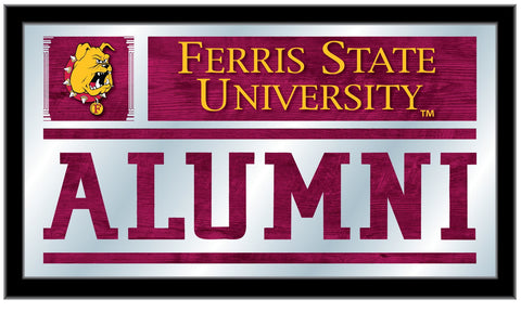 "Ferris State Bulldogs Holland Bar Stool Co. Alumni Mirror (26"" x 15"")"