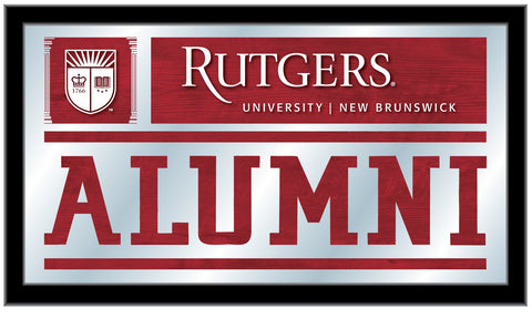 "Rutgers Scarlet Knights Holland Bar Stool Co. Alumni Mirror (26"" x 15"")"