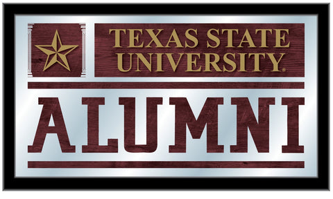 "Texas State Bobcats Holland Bar Stool Co. Alumni Mirror (26"" x 15"")"