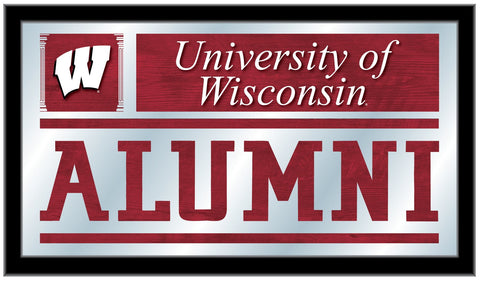 "Shop Wisconsin Badgers Holland Bar Stool Co. Alumni Mirror (26"" x 15"")"