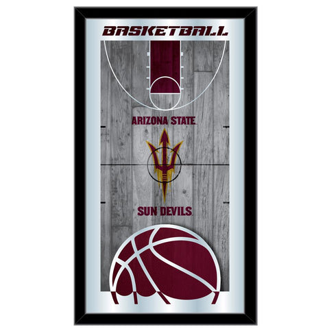 "Arizona State Sun Devils HBS Basketball Framed Hang Glass Wall Mirror (26""x15"")"