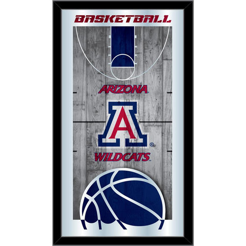 "Arizona Wildcats HBS Blue Basketball Framed Hanging Glass Wall Mirror (26""x15"")"