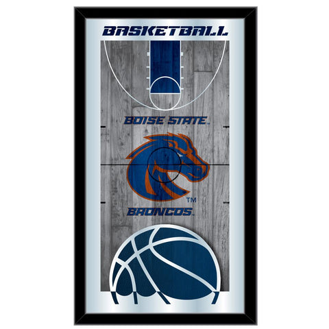 "Boise State Broncos HBS Basketball Framed Hanging Glass Wall Mirror (26""x15"")"