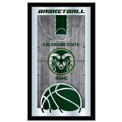 "Colorado State Rams HBS Basketball Framed Hanging Glass Wall Mirror (26""x15"")"