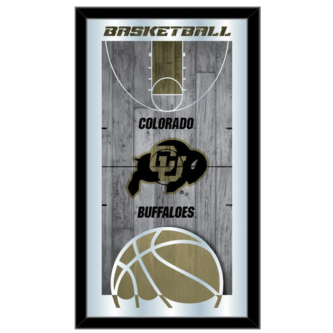 "Colorado Buffaloes HBS Basketball Framed Hanging Glass Wall Mirror (26""x15"")"