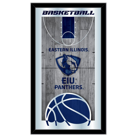 "Eastern Illinois Panthers HBS Basketball Framed Hang Glass Wall Mirror (26""x15"")"