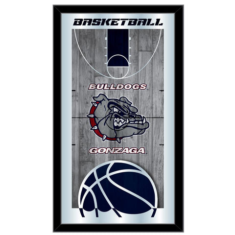 "Gonzaga Bulldogs HBS Navy Basketball Framed Hanging Glass Wall Mirror (26""x15"")"