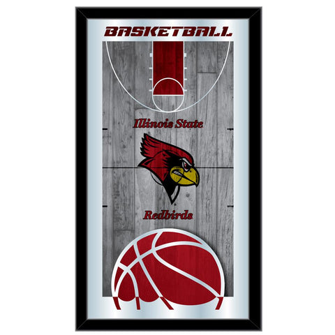 "Illinois State Redbirds HBS Basketball Framed Hang Glass Wall Mirror (26""x15"")"