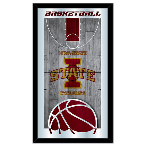 "Iowa State Cyclones HBS Basketball Framed Hanging Glass Wall Mirror (26""x15"")"