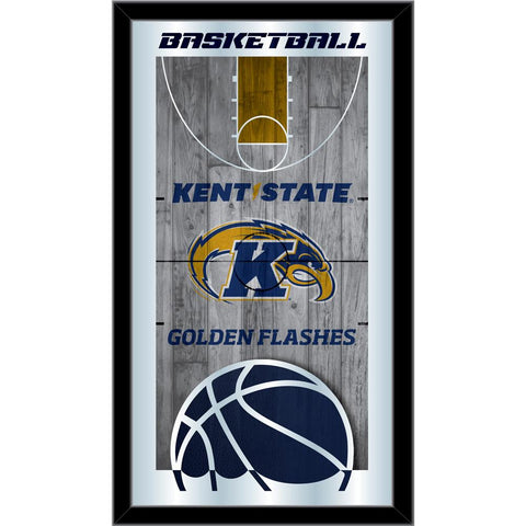 "Kent State Golden Flashes HBS Basketball Framed Hang Glass Wall Mirror (26""x15"") - Sporting Up"