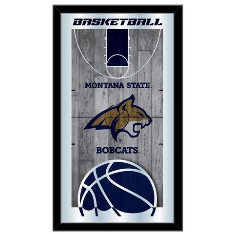 "Montana State Bobcats HBS Basketball Framed Hanging Glass Wall Mirror (26""x15"")"