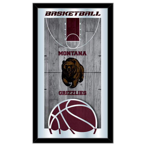 "Montana Grizzlies HBS Basketball Framed Hanging Glass Wall Mirror (26""x15"")"