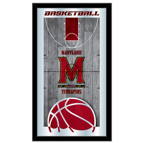 "Maryland Terrapins HBS Basketball Framed Hanging Glass Wall Mirror (26""x15"")"