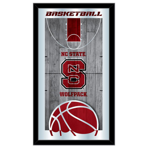 "NC State Wolfpack HBS Basketball Framed Hanging Glass Wall Mirror (26""x15"")"