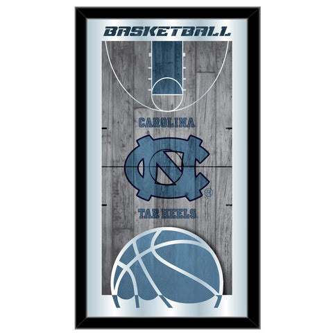 "Shop North Carolina Tar Heels HBS Basketball Framed Hang Glass Wall Mirror (26""x15"") - Sporting Up"