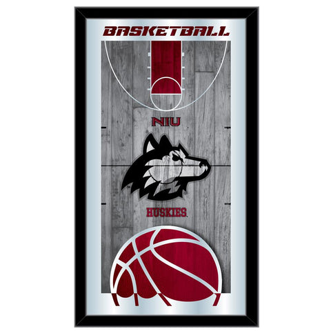 "Northern Illinois Huskies HBS Basketball Framed Hang Glass Wall Mirror (26""x15"")"