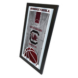 "South Carolina Gamecocks HBS Basketball Framed Hang Glass Wall Mirror (26""x15"") - Sporting Up"