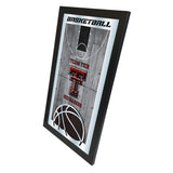 "Texas Tech Red Raiders HBS Basketball Framed Hanging Glass Wall Mirror (26""x15"") - Sporting Up"