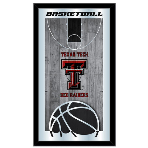 "Shop Texas Tech Red Raiders HBS Basketball Framed Hanging Glass Wall Mirror (26""x15"") - Sporting Up"