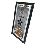 "Vanderbilt Commodores HBS Basketball Framed Hanging Glass Wall Mirror (26""x15"") - Sporting Up"