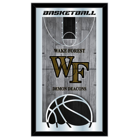 "Wake Forest Demon Deacons HBS Basketball Framed Hang Glass Wall Mirror (26""x15"") - Sporting Up"
