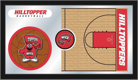 "Western Kentucky Hilltoppers HBS Basketball Framed Glass Wall Mirror (26""x15"")"