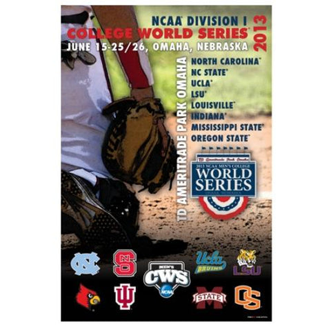 Shop 2013 Official College World Series CWS Omaha Team Logos Print Poster 24x36 - Sporting Up