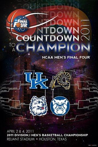 Shop 2011 NCAA Final Four Team Logos College Basketball Print Poster (24 x 36) - Sporting Up