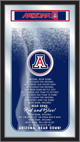 "Arizona Wildcats Holland Bar Stool Co. Fight Song Mirror (26"" x 15"")"