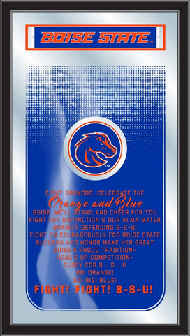 "Boise State Broncos Holland Bar Stool Co. Fight Song Mirror (26"" x 15"")"