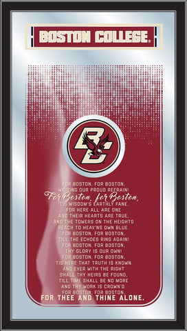 "Boston College Eagles Holland Bar Stool Co. Fight Song Mirror (26"" x 15"")"