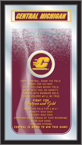 "Central Michigan Chippewas Holland Bar Stool Co. Fight Song Mirror (26"" x 15"")"