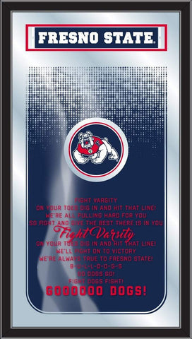 "Fresno State Bulldogs Holland Bar Stool Co. Fight Song Mirror (26"" x 15"")"