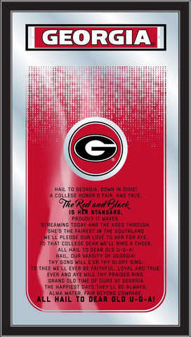 "Georgia Bulldogs Holland Bar Stool Co. Fight Song Mirror (26"" x 15"")"