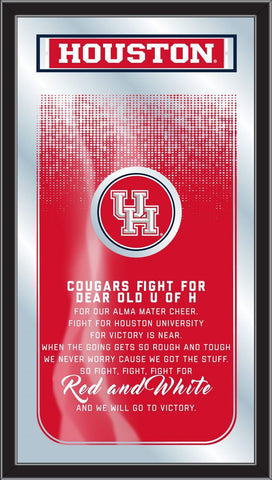 "Houston Cougars Holland Bar Stool Co. Fight Song Mirror (26"" x 15"")"