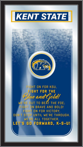 "Kent State Golden Flashes Holland Bar Stool Co. Fight Song Mirror (26"" x 15"") - Sporting Up"