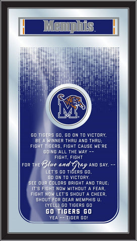 "Memphis Tigers Holland Bar Stool Co. Fight Song Mirror (26"" x 15"") - Sporting Up"