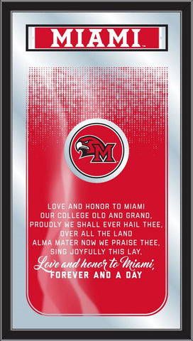 "Miami University Redhawks Holland Bar Stool Co. Fight Song Mirror (26"" x 15"")"