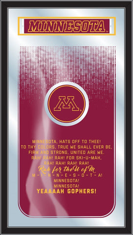 "Minnesota Golden Gophers Holland Bar Stool Co. Fight Song Mirror (26"" x 15"") - Sporting Up"