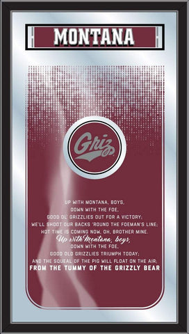 "Montana Grizzlies Holland Bar Stool Co. Fight Song Mirror (26"" x 15"")"