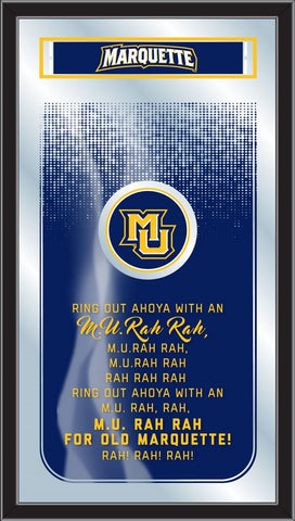 "Marquette Golden Eagles Holland Bar Stool Co. Fight Song Mirror (26"" x 15"")"
